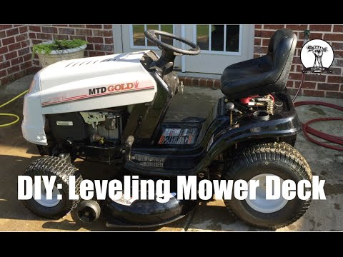 DIY: How To Level The Deck On A MTD Lawn Mower : Bolens, Toro, Yard Machines