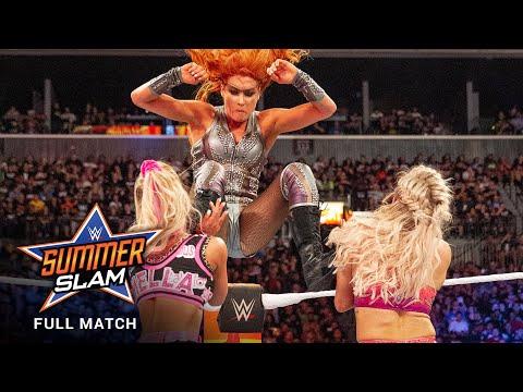 FULL MATCH: Carmella vs. Flair vs. Lynch – SmackDown Women's Title Match: SummerSlam 2018