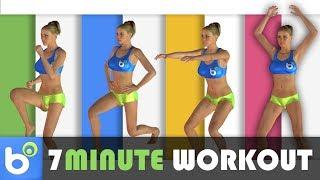 7 Minute Workout - 7 minuti di esercizi ad alta intensità per dimagrire - YouTube