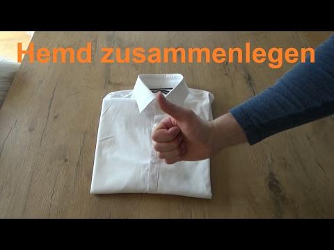 Hemd falten Herrenhemd zusammenlegen Businesshemd Koffer Anleitung