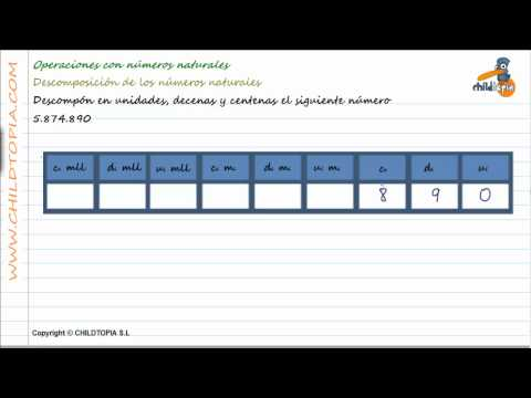 Vídeos Educativos.,Vídeos:Descomponer unidades, decenas, 4