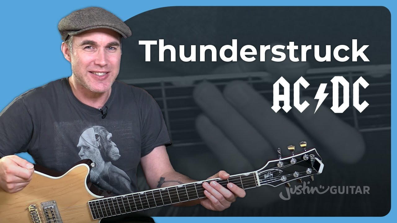 How to play Thunderstruck by AC/DC Angus Malcolm  – Guitar Lesson Tutorial Aussie Classic SB-509