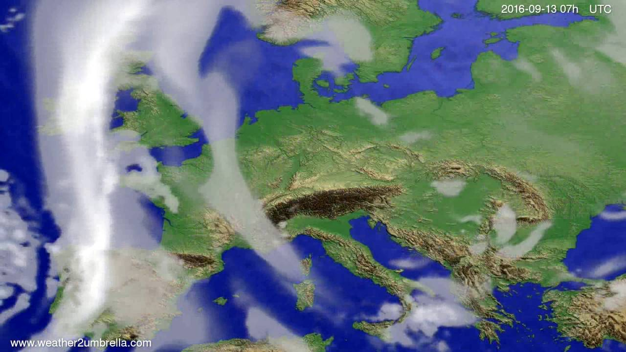 Cloud forecast Europe 2016-09-09