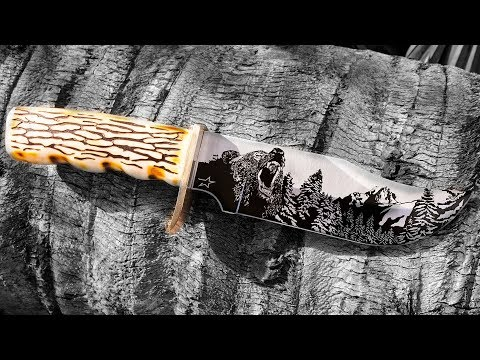<h3>Blade & Knife Laser Engraving System | Custom Bear Knife Engraving</h3><p>In this laser engraving video, we demonstrate laser engraving a custom bear image on a bare blade. FiberStar® Laser Engraving Systems are a great tool for engraving firearms, knifes, tumblers, jewelry as well as other items.<br /><br />Our proprietary StarFX™ software provides a level of complex layer engraving and surface texturing never before available in today's marketplace.  Convert any sketch, drawing, or graphic image into a custom engraved work-of-art on multiple alloys including: Aluminum, Stainless Steel, Titanium, Copper, Iron, Brass, Exotic Metals, Composites, and precious alloys.  Each image can be engraved before or after custom coating (including hard coat anodize, custom color or Cerakote processes) to optimize the color fill, natural shadowing and polishing effects of the final result.</p><div> </div>