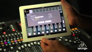 How to use the BEHRINGER X32 remote app for iPad - XiCONTROL