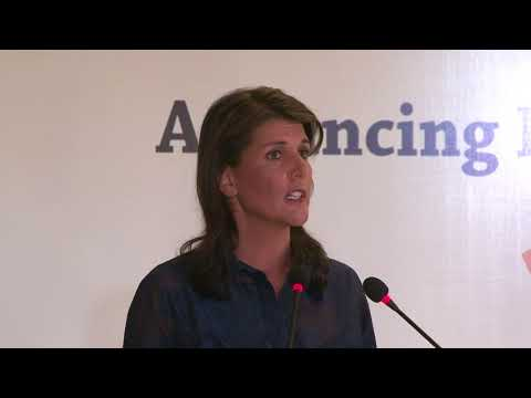 Special Address by Amb Nikki R. Haley on Advancing India-US Relations