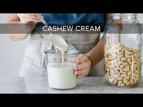 HOW TO MAKE CASHEW CREAM | Dairy-free, Vegan Cashew Cream