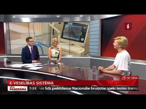 """Veselības ministres Andas Čakšas saruna LTV1 """"Rīta Panorāma"""" par E-veselības sistēmas darbības uzlabošanu"""