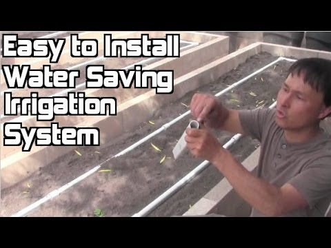 Easy to Install Irrigation System for Raised Bed Gardens that Beats Drip Irrigation