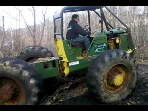 Detroit 3-53 IH log Skidder unearthing cast iron pulley