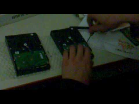Hard disk controller card change