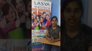 Student sharing her experience at Lasya Infotech