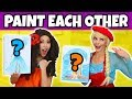PAINT EACH OTHER CHALLENGE MOANA VS ELSA (Totally TV Characters)