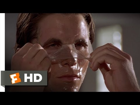 """The """"Morning Routine"""" Scene in American Psycho. One of the best character introductions in movie history"""