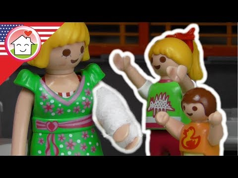 Playmobil movie english - The Broken Arm - The Hauser Family kids cartoons