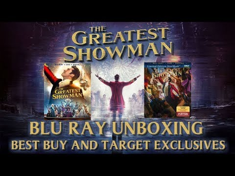 THE GREATEST SHOWMAN - BLURAY UNBOXING AND REVIEW (BEST BUY EXCLUSIVE / TARGET EXCLUSIVE)