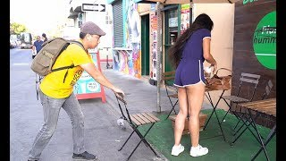 Video Chair Pulling Prank in Venice Beach!!! MP3, 3GP, MP4, WEBM, AVI, FLV September 2018