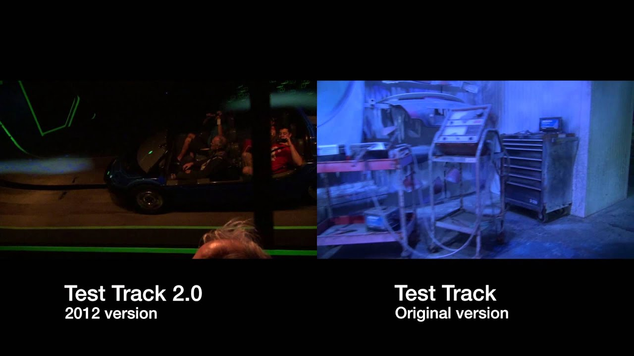 Test Track 1.0 vs 2.0 side-by-side