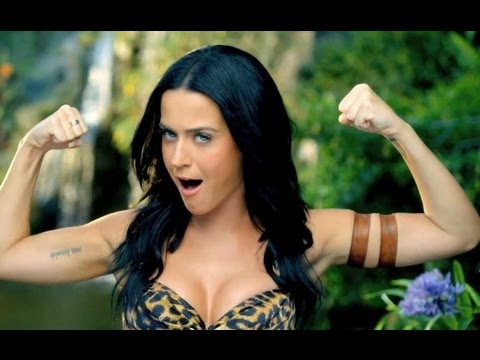 "KATY PERRY JUNGLE QUEEN IN ""ROAR"" MUSIC VIDEO!"