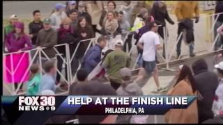 Help at the finish line