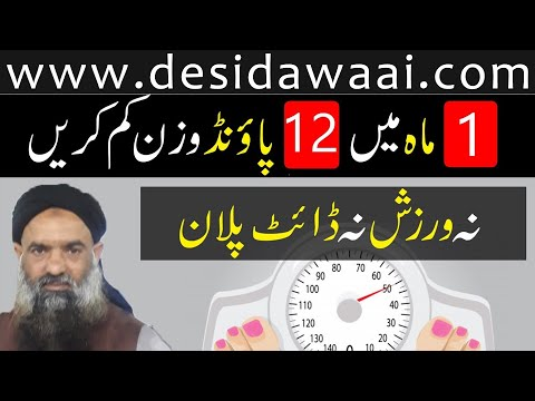How to lose weight fast dr muhammad sharafat ali health tips | #12PoundWeightLose | Home Remedy