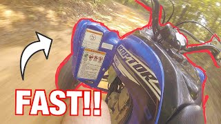 8. FAST trail riding on my 2019 Yamaha Raptor 700r