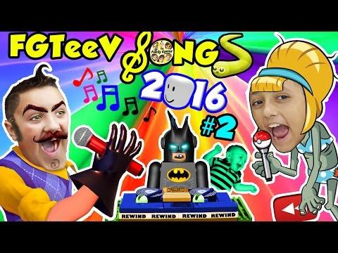 FGTEEV SONGS 2016 #2 w/ LEGO BatMan (Songs for Kids ROBLOX POKEMON SLITHER.IO Games YOUTUBE REWIND) (видео)