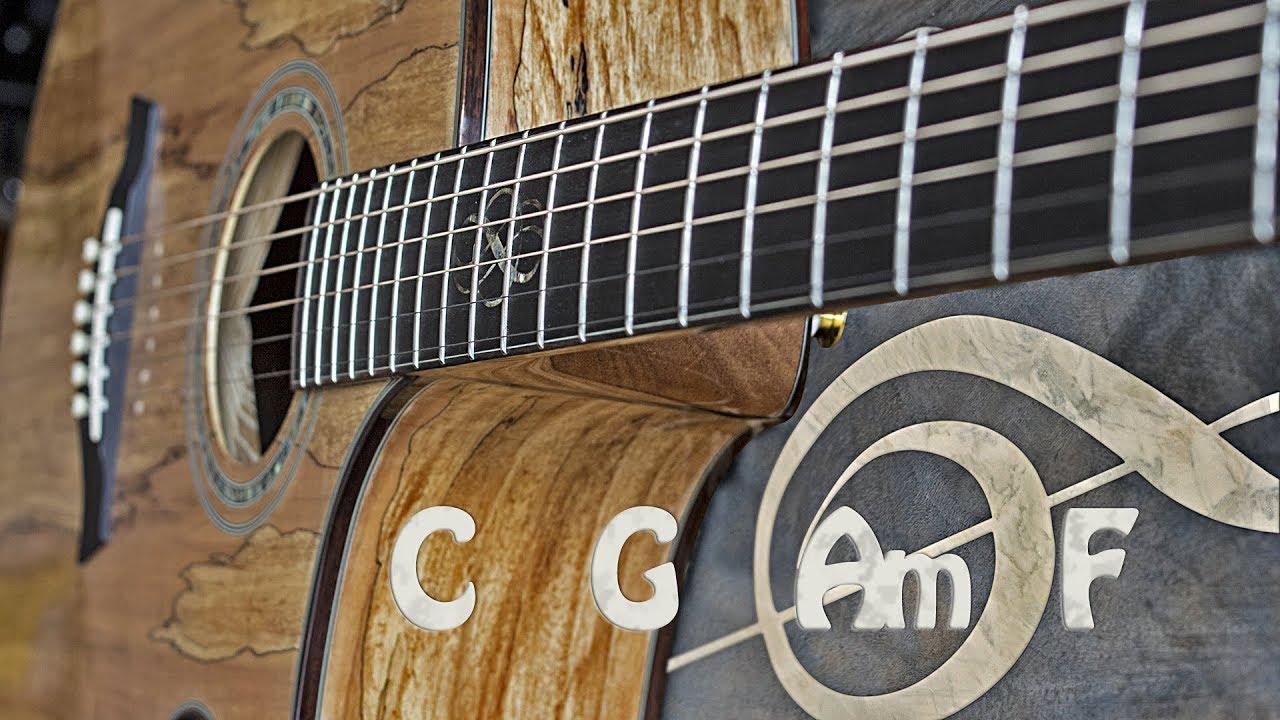 Acoustic Rock Guitar Backing Track C Major