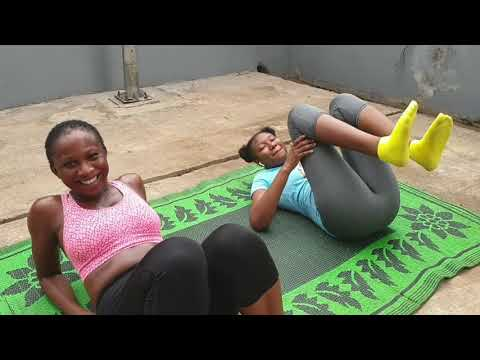 TO KILL BOREDOM...SONIA COACHES HER SISTERS IN EXTENSIVE WORKOUT - CHINENYE DOESN'T LOOK STRONG