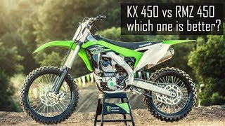 4. Kawasaki KX 450f first ride and comparison to Suzuki RMZ 450