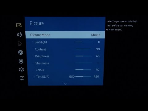 Samsung UE65JU7000 4K TV Best Picture Settings