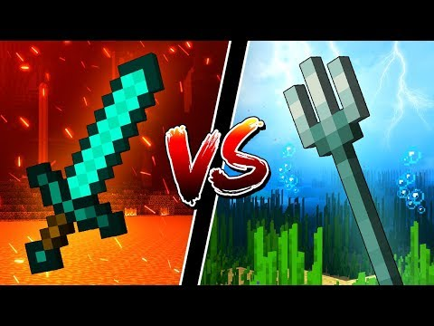 Diamond Swords VS Tridents! WHAT'S BETTER?