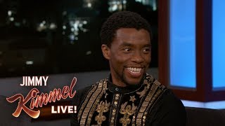 Chadwick Boseman on Top Secret Marvel Photo