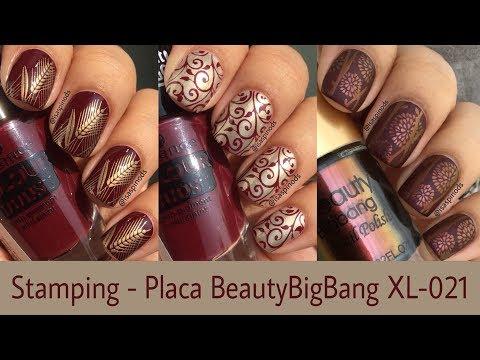 Diseños de uñas - Decoración de Uñas Probando la Placa BeautyBigBang XL-021 - Sellos de Uñas