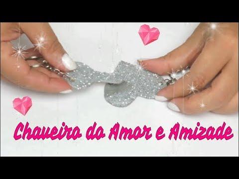 Frases de amigos - DIYs Dia dos Namorados Chaveiro de Coração Amor  Amizade