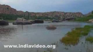 Hospet India  city pictures gallery : Tungabhadra River, Hampi, Hospet, India