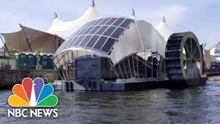 Solar-Powered Water Wheel Cleans Baltimore Harbor  NBC News