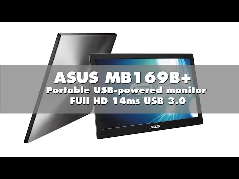 ASUS MB169B+ FUll HD Portable USB-powered monitor Key Features