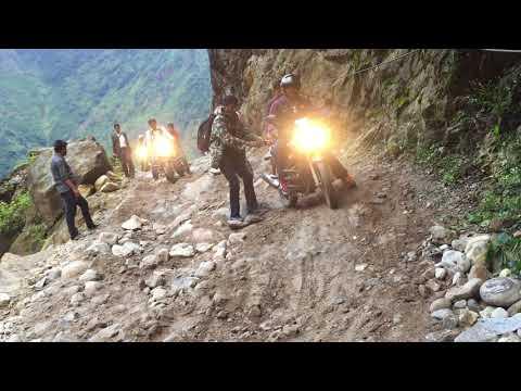 Most difficult road on the way to Manang || Lamjung - Manang border || Bike ride