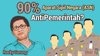 Video 90% ASN Ingin Ganti Presiden? - Rocky Gerung MP3, 3GP, MP4, WEBM, AVI, FLV Februari 2019
