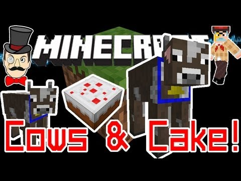 Minecraft 1.8 HUGE COWS & Pigs with Cake! Feed Cake to Grow !