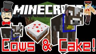 Minecraft 1.8 HUGE COWS&Pigs with Cake! Feed Cake to Grow !