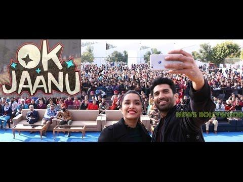 OK Jaanu : Shraddha Kapoor and Aditya Roy Kapur's  movie Promotion at chandigarh University