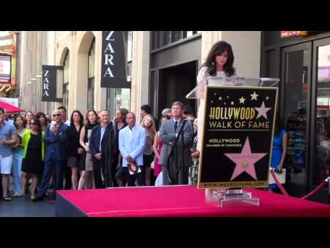 Valerie Bertinelli Walk of Fame Ceremony