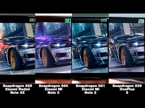 Snapdragon 625 vs 660 vs 821 vs 835! БОЛЬШОЕ СРАВНЕНИЕ В ИГРАХ! FPS + НАГРЕВ!