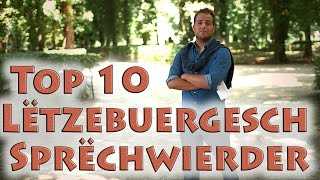 Wosst der daat, dass di lëtzebuergesch Sprooch e puer flott Wieder a Sprëch huet? Jo oder? Egal, mir hun eis Top 10 opgestallt an se mat Hëllef vun enger ...