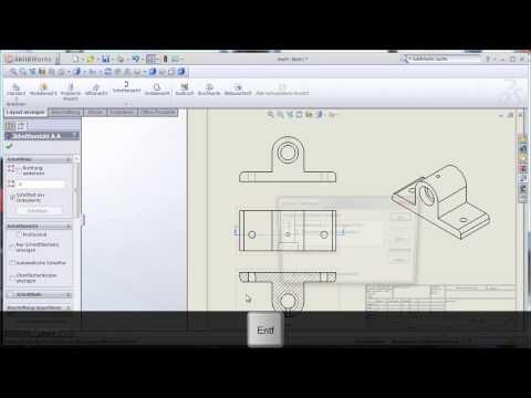 Erstellen von technischen Zeichnungen
