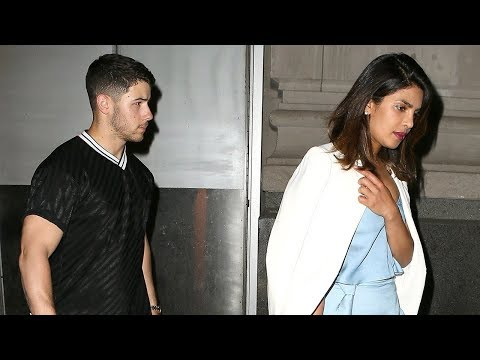 Priyanka Chopra Wears Stunning Satin Dress for Date Night With Nick Jonas