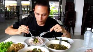 Eating Vegetarian Thai Food At Jay Jay Restaurant In Bangkok