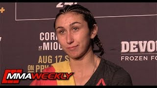 UFC 241 Post-Fight: Sabina Mazo  (Complete Scrum) by MMA Weekly